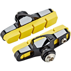 SwissStop Full FlashPro Pastiglie Freni per Shimano/SRAM Carbon, yellow/black